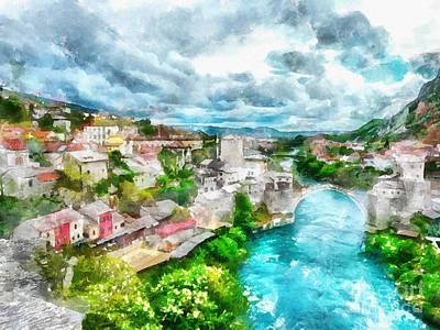 Herzegovina Vista Art Print by Shirley Stalter