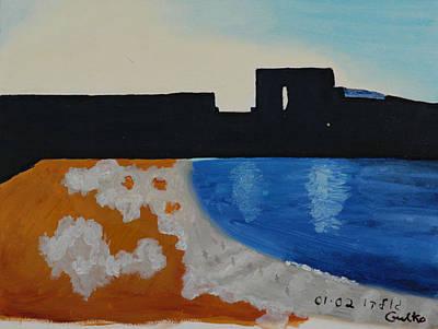 Herzliya Beach  Art Print by Harris Gulko
