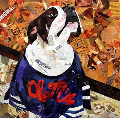 Puppy Drawing - He's A Fan by Paula Dickerhoff