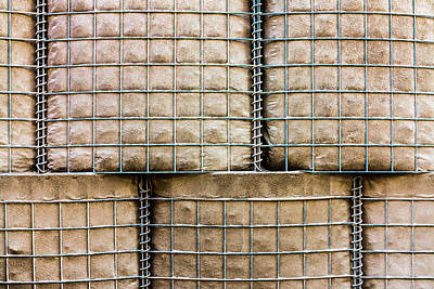 Photograph - Hesco Barrier Stacks by SR Green