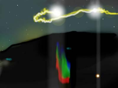 Hessdalen Lights 1 Original by Chuck Pfarrer