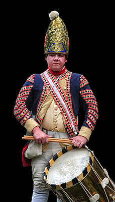 War Of Independance Photograph - Hessian Grenadier Drummer by Dave Mills