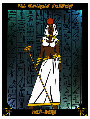 Hathor Mixed Media - Het-heru by Derrick Colter
