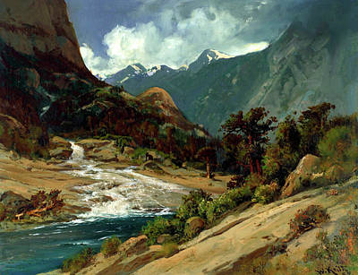 Painting - Hetch Hetchy Side Canyon by Mountain Dreams