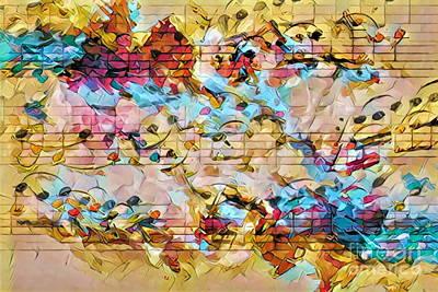 Digital Art - Heterophony Sq by Lon Chaffin