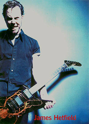 Esp Guitars Photograph - Hetfield by Dino Muradian
