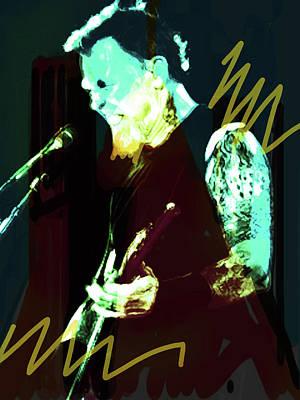 Def Leppard Mixed Media - Hetfield Metallica Black N Yellow  by Enki Art