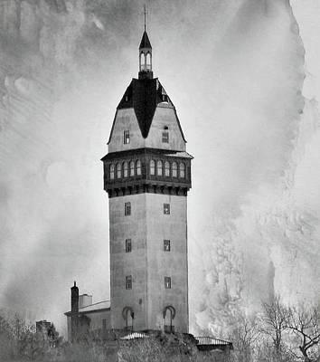 Winter Animals - Heublein Tower BW by Charles HALL