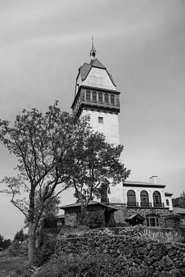 Photograph - Heublein Tower Bw by Karol Livote