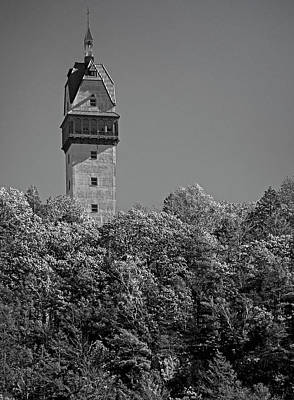 Photograph - Heublein Tower In Monochrome by Phil Cardamone