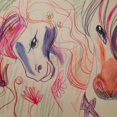Pferd Wall Art - Photograph - Heute Mal Wieder Gezeichnet :) ! #horse by Larissa Westerink