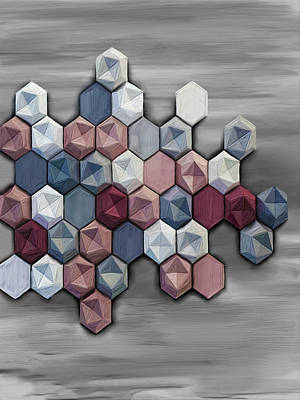 Abstractart Digital Art - hex by Donald Lawrence