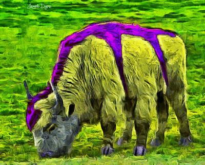 Buffalo Digital Art - Hexabuffalo - Pa by Leonardo Digenio