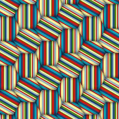 Digital Art - Hexagon Stripe by Deborah Runham