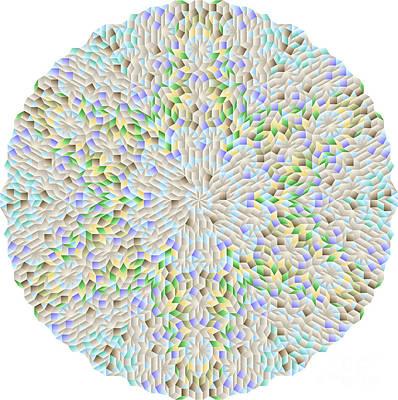 Hexagonal-based Pattern No.212.9 Art Print