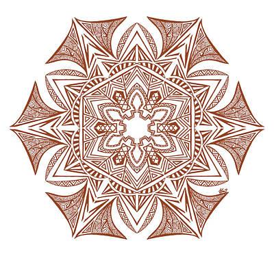 Hexagonal Mandala Original by Beltolls Art