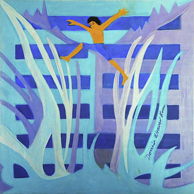 Youthful Painting - Hexagram 4-meng by Denise Weaver Ross