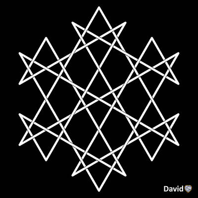 Digital Art - Hexagrammaton by David Diamondheart