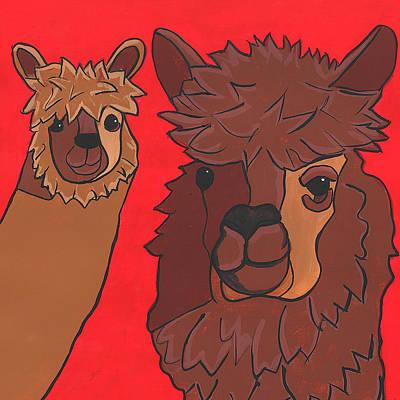 Alpaca Painting - Hey Alpaca by Barbara Tilley
