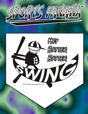 Hey Batter Batter Swing Art Print by Maria Watt