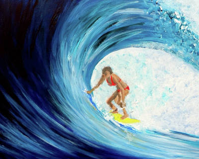 Painting - Hey Betty Surfer Girl by Katy Hawk