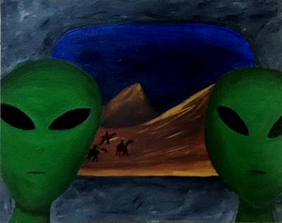 Painting - Hey Bob, I Think They Are Following Us.. by Lola Connelly