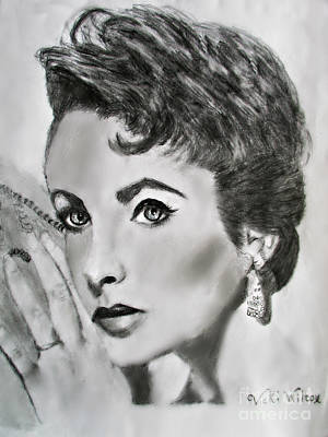 Elizabeth Taylor Drawing - Hey, Did You Happen To See? by Vicki Wilcox