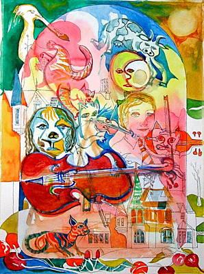 Hey Diddle Diddle Art Print by Mike Shepley DA Edin