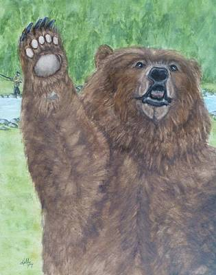 Grizzly Bear Painting - The Grizzly Bear Wave by Kelly Mills