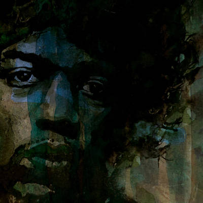 Jimi Hendrix Painting - Hey Joe Retro by Paul Lovering