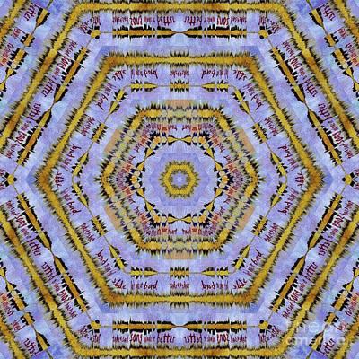 10489 Hey Jude Kaleidoscope 1 Art Print