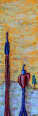 Painting - Hey Man, You're Kinda Blocking My Sun by Mario MJ Perron