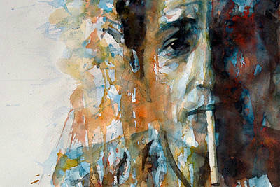 Hey Mr Tambourine Man @ Full Composition Art Print by Paul Lovering