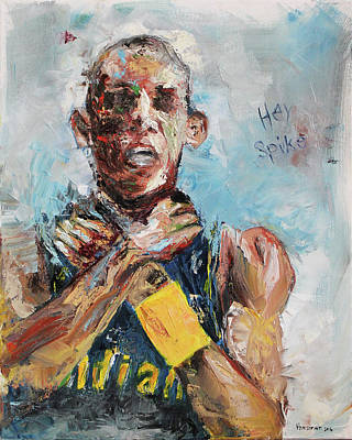 Basketball Portrait Painting - Hey Spike by Charles Horsman