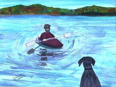 Art Print featuring the painting Hey Where You Going  by Donna Walsh