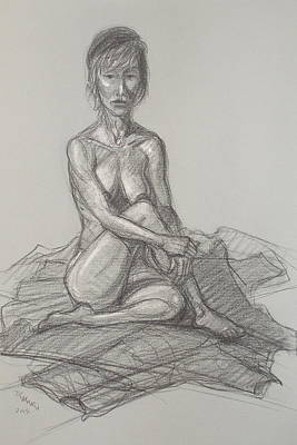 Drawing - Hey Yong Seated by Donelli  DiMaria