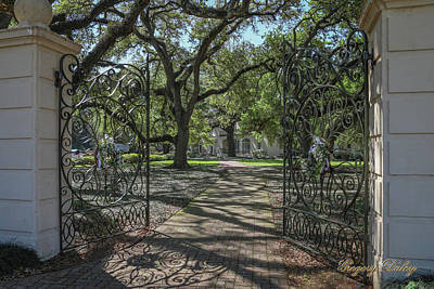 Photograph - Heyman House Gates 1 by Gregory Daley  PPSA
