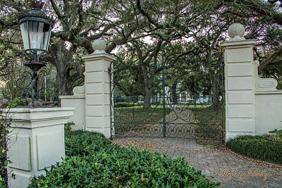 Photograph - Heyman House Gates by Gregory Daley  MPSA
