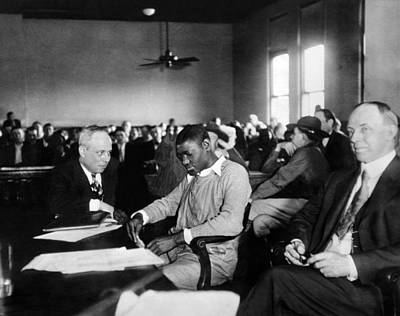 Court Room Photograph - Heywood Patterson, One Of The African by Everett