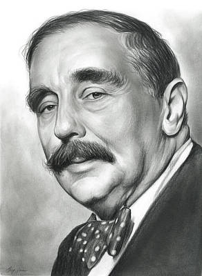 Literature Drawing - H.g. Wells by Greg Joens