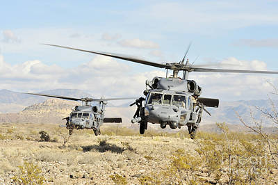 Hh-60g Pave Hawk Helicopters Land Art Print