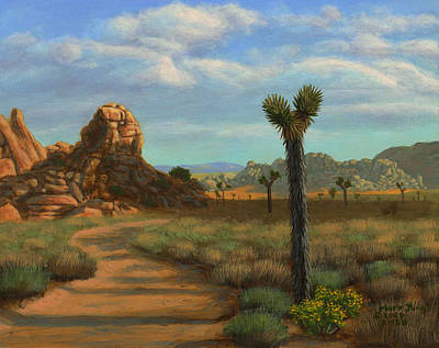 Flower Wall Art - Painting - Hi Desert Road by Mark Junge