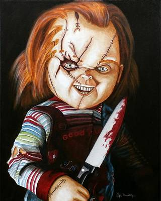 Painting - Hi I'm Chucky Wanna Play by Al  Molina