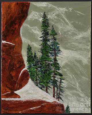 Painting - Hi Mountain Pine Trees by Jack Hedges