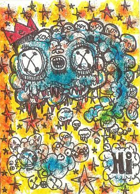 Contemporary Abstract Drawing - Hi Part 2 by Robert Wolverton Jr