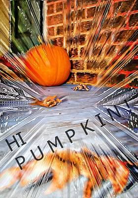 Photograph - Hi Pumpkin by Bob Pardue