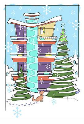 Digital Art - Hi-rise Christmas by Larry Hunter