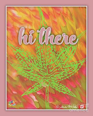 Painting - Hi There Pink Border by Sheila McPhee