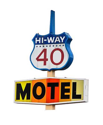 Photograph - Hi-way 40 Motel by Rick Mosher
