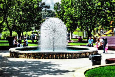 Photograph - Hiavatyev Park Fountain, Koper by Kay Brewer